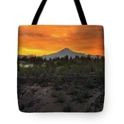 Mount Jefferson At Sunset Tote Bag