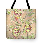 Three Flowers Tote Bag