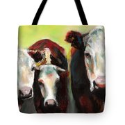Three Generations Of Moo Tote Bag