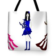 Three Girls Tote Bag