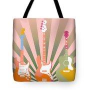 Three Guitars Pop Art Tote Bag