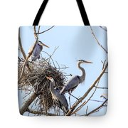 Three Herons Tote Bag