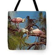 Three In A Tree Tote Bag
