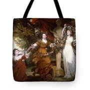Three Ladies Adorning A Term Of Hymen Tote Bag