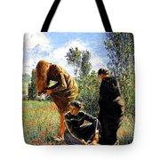 Three Ladies In A Field Tote Bag