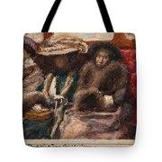 Three Ladies On Carriage Tote Bag