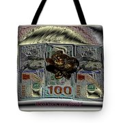 Three Legged Frog Bringing Luck And Wealth Tote Bag