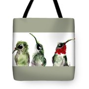 Three Little Hummers Tote Bag