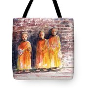 Three Little Monks Tote Bag