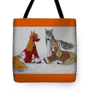 Three Little Ponies Tote Bag