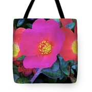 Three Lovely Flowers Tote Bag