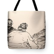 Three Men At Tims Tote Bag