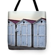 Three Modello Beach Cabanas Tote Bag