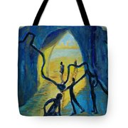 Three Moments. Second Moment Walking And Dancing Tote Bag