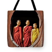 Three Monklets Tote Bag