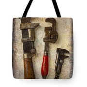 Three Old Worn Wrenches Tote Bag