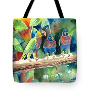 Three On A Branch Tote Bag