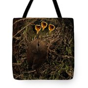 Three Open Mouths Tote Bag