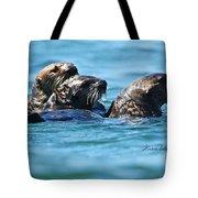 Three Otters Tote Bag