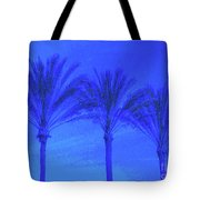 Three Palms And One Flag Tote Bag