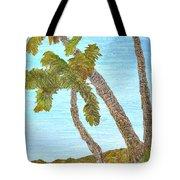 Three Palms At The Beach Tote Bag