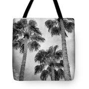 Three Palms Bw Palm Springs Tote Bag