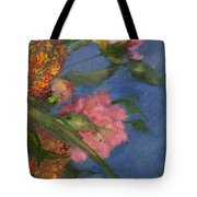 Three Peonies Tote Bag