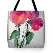 Three Pink Flowers 2 Tote Bag