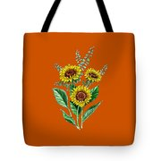 Three Playful Sunflowers Tote Bag