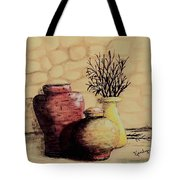 Three Pots And Twigs Tote Bag