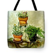 Three Potted Plants Tote Bag