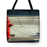 Three Red Lines Tote Bag