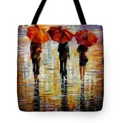 Three Red Umbrella Tote Bag