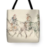Three Riders Tote Bag