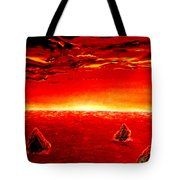 Three Rocks In Sunset Tote Bag