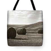 Three Rolls Of Hay Tote Bag by Lorraine Devon Wilke