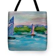 Three Sailboats Tote Bag