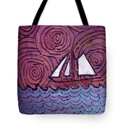 Three Sails And The Wind Tote Bag