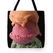 Three Scoops Of Ice Cream  Tote Bag