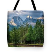 Three Sisters And The Railroad Tote Bag