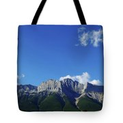 Three Sisters Ridges Canmore Alberta Gateway To Banff National Park Tote Bag