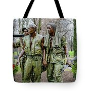 Three Soldiers Memorial Tote Bag