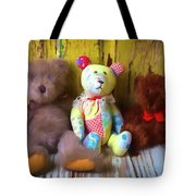 Three Special Bears Tote Bag