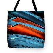 Three Sport Car Hoods Abstract Tote Bag