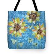 Three Sunflowers Tote Bag
