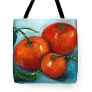 Three Tangerines Still Life Grace Venditti Montreal Art Tote Bag