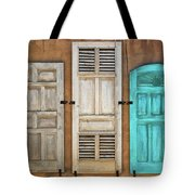 Three Taos Doors Tote Bag
