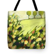 Three Trees On A Hill Tote Bag by Jennifer Lommers