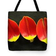 Three Tulip Petals Tote Bag