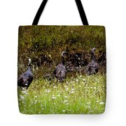 Three Turkeys Tote Bag
